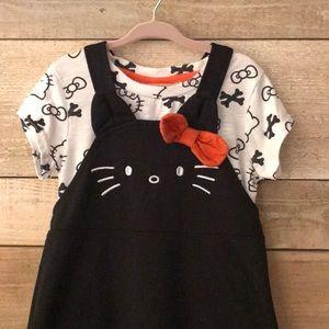 Hello Kitty 🎃 Halloween 2 piece pinafore dress